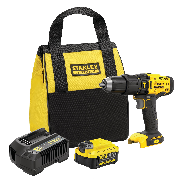 18V STANLEY® FATMAX® V20 Hammer Drill Kit 4.0Ah (SFMCD711M1)