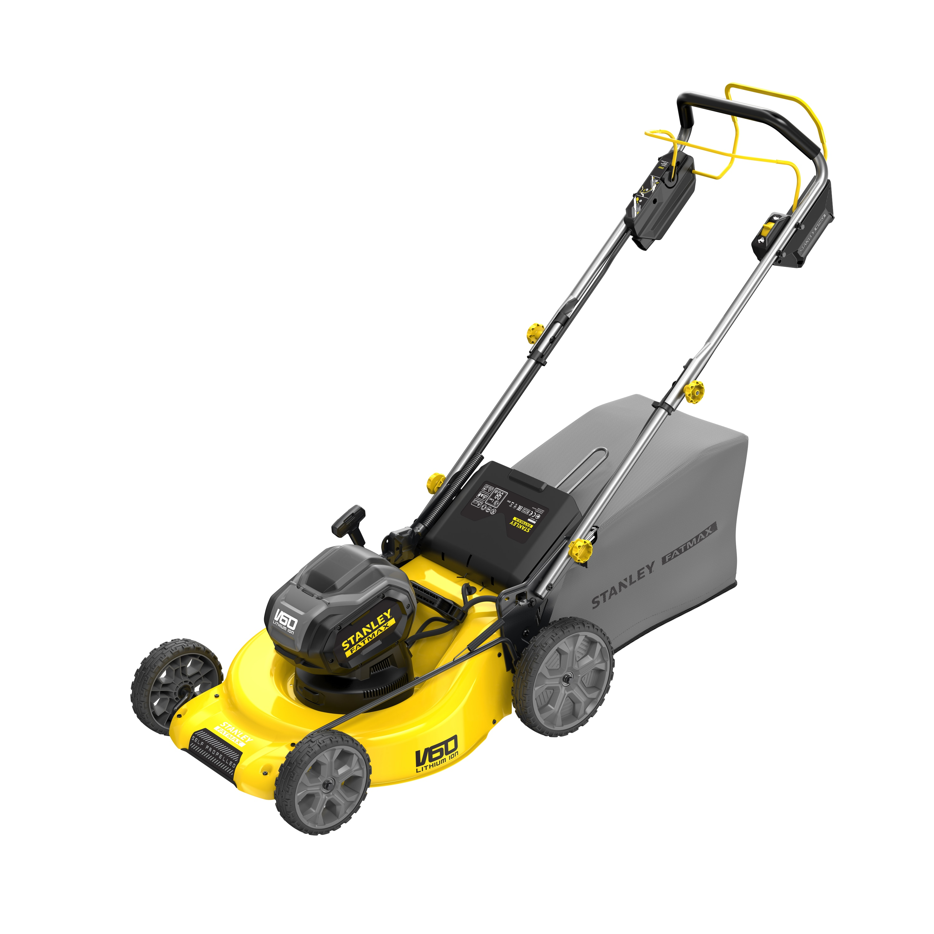 54V STANLEY® FATMAX® V60 53cm Self Propelled Mower Kit 5.0Ah (SFMCMS2653P)