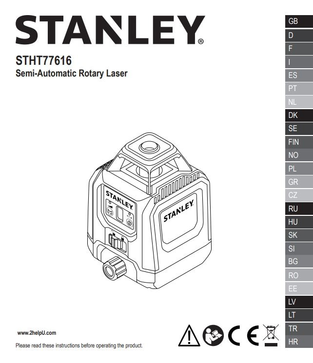 Laser rotacyjny STHT77616
